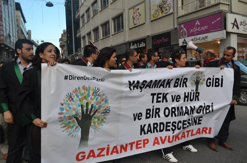 Avukatlardan protestoculara destek  13