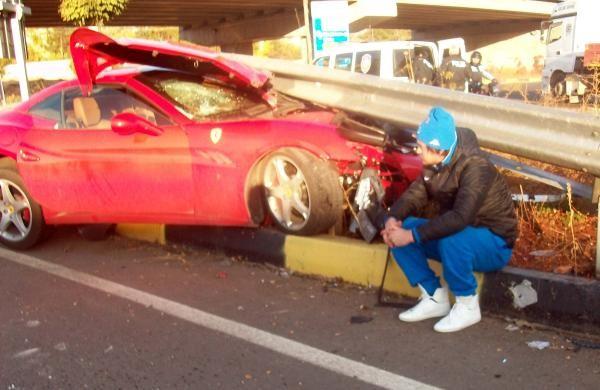 Alkollü Milevskiy kaza yaptı 7