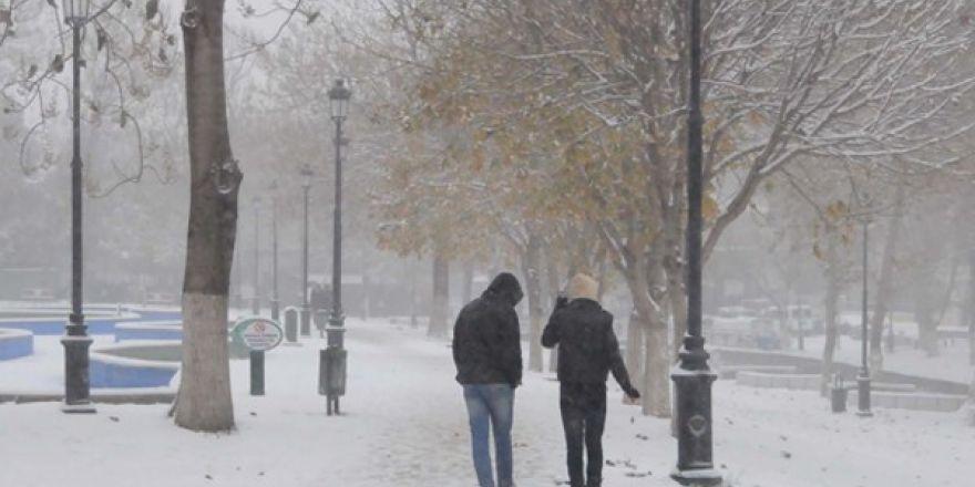Gaziantep'ten kar manzaraları