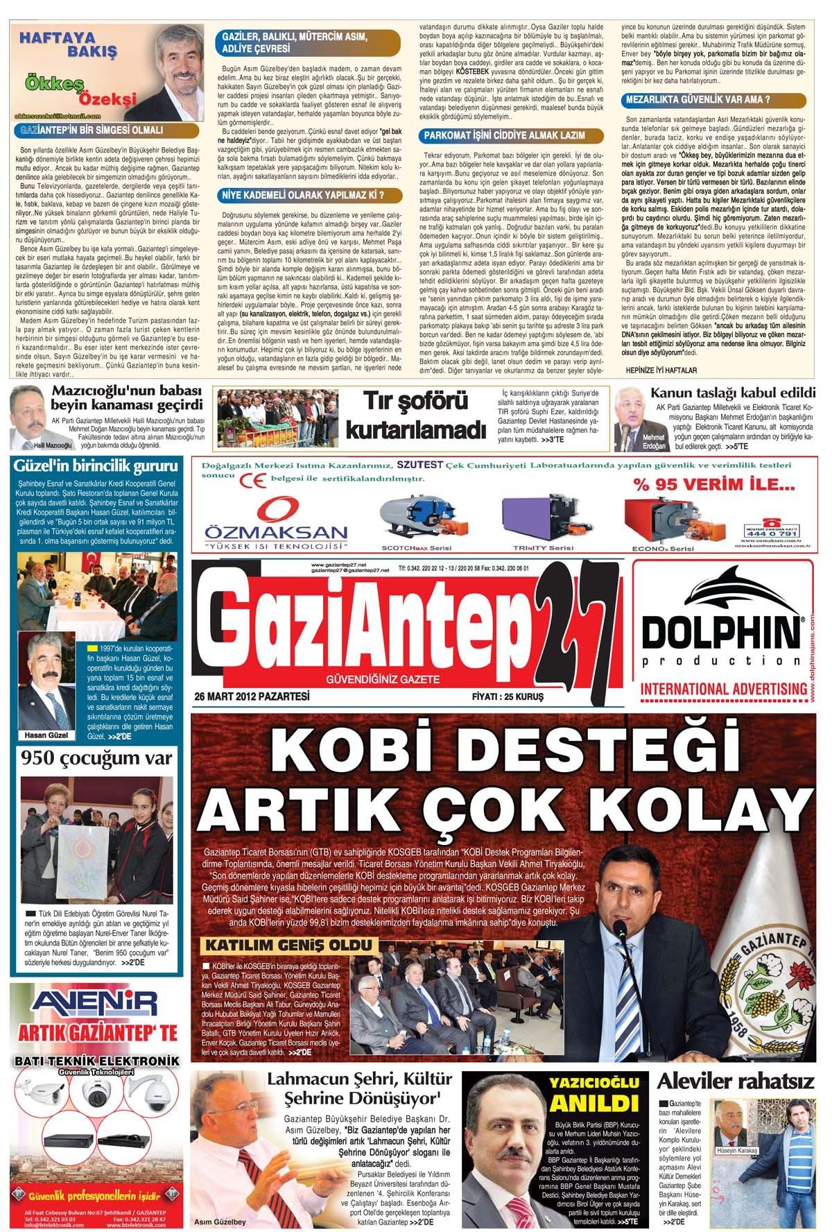 27 Aralık 2013 Tarihli e-Gazete 1