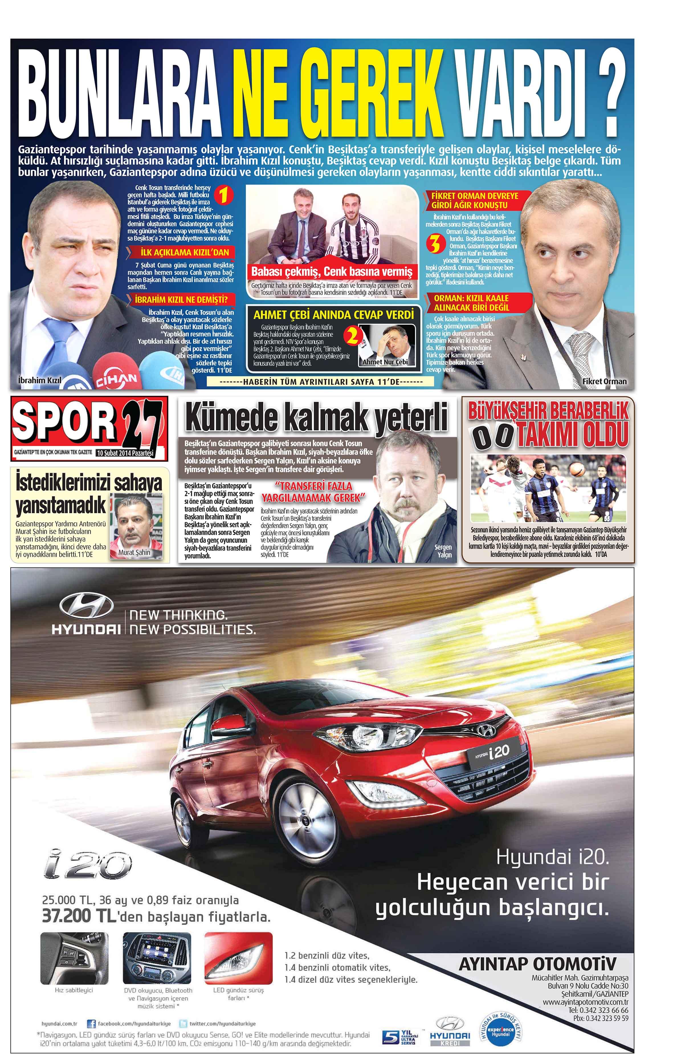 10 Şubat 2014 sayfalar 1