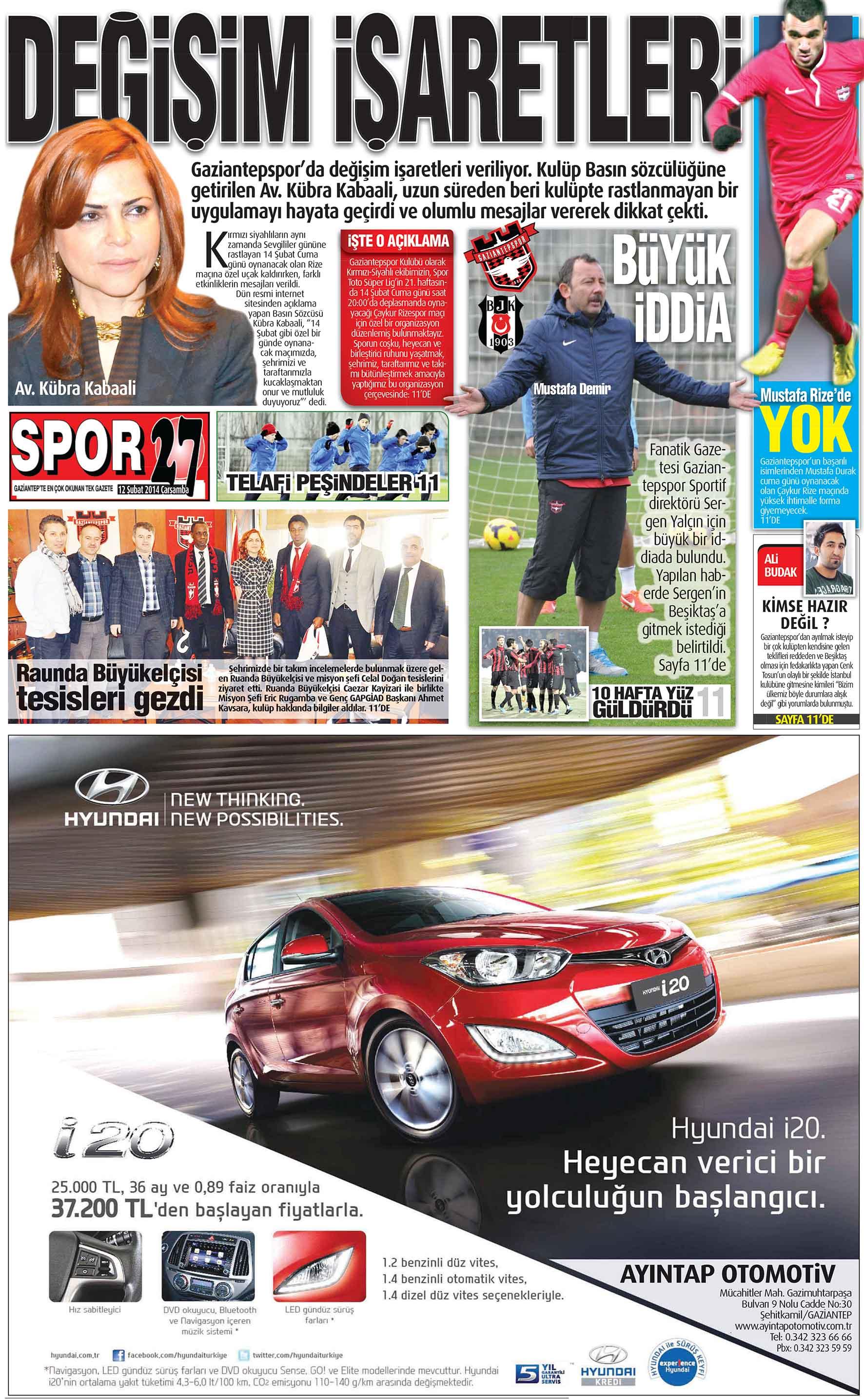 12 Şubat 2014 Sayfalar 2