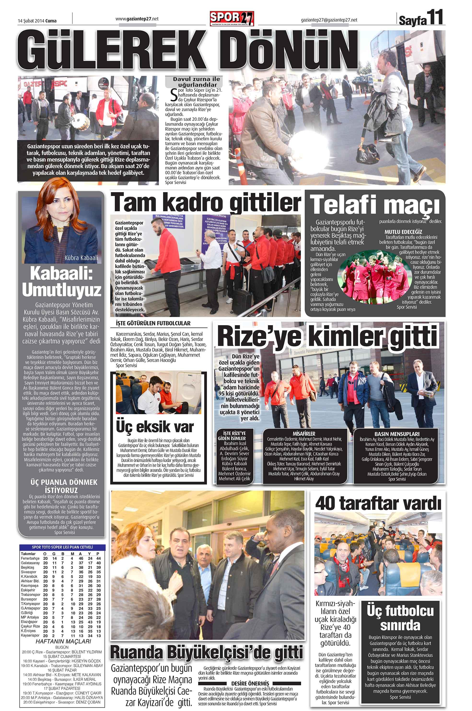 14 ŞUBAT SAYFALAR 1