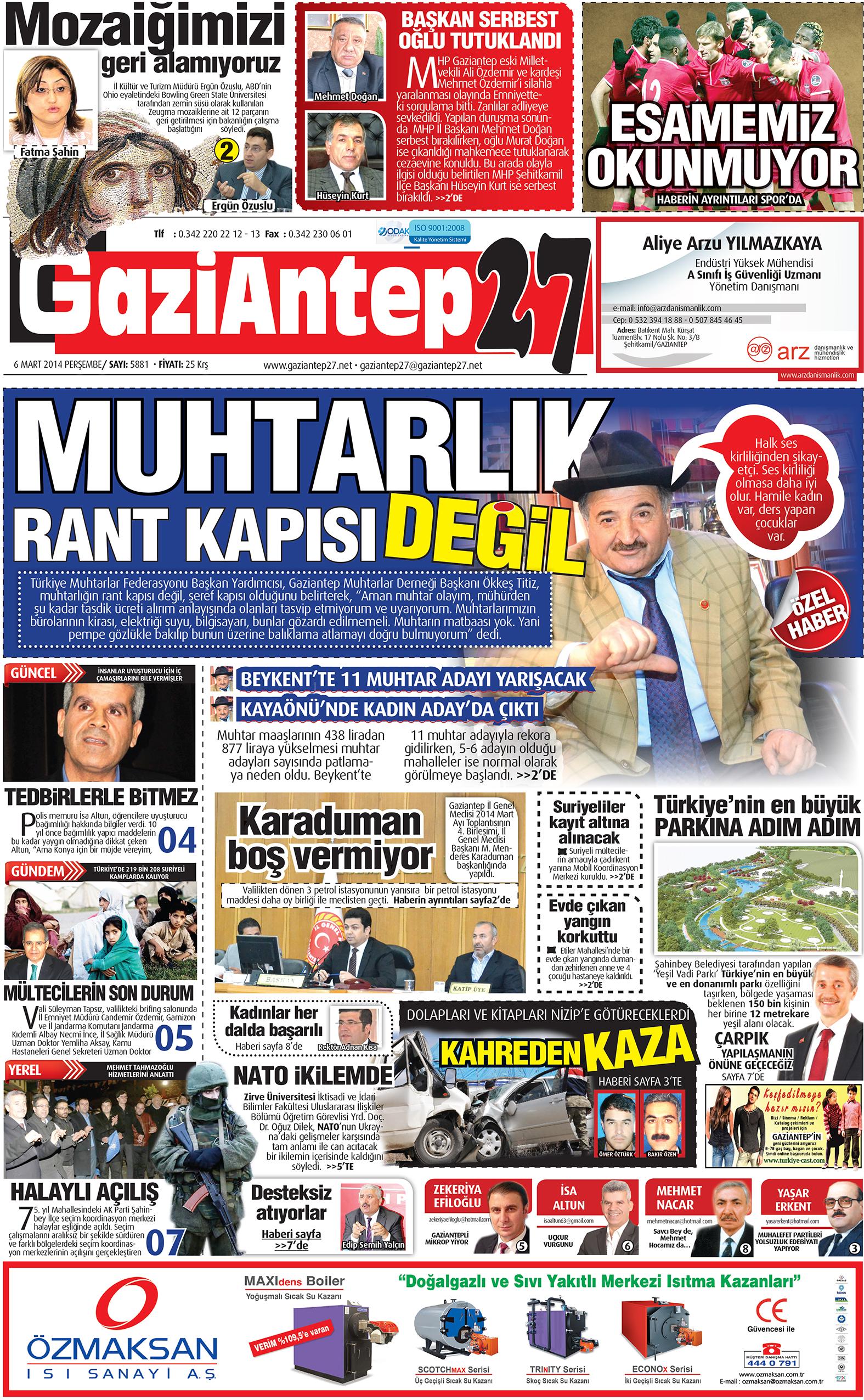 6 Mart 2014 Sayfalar 1