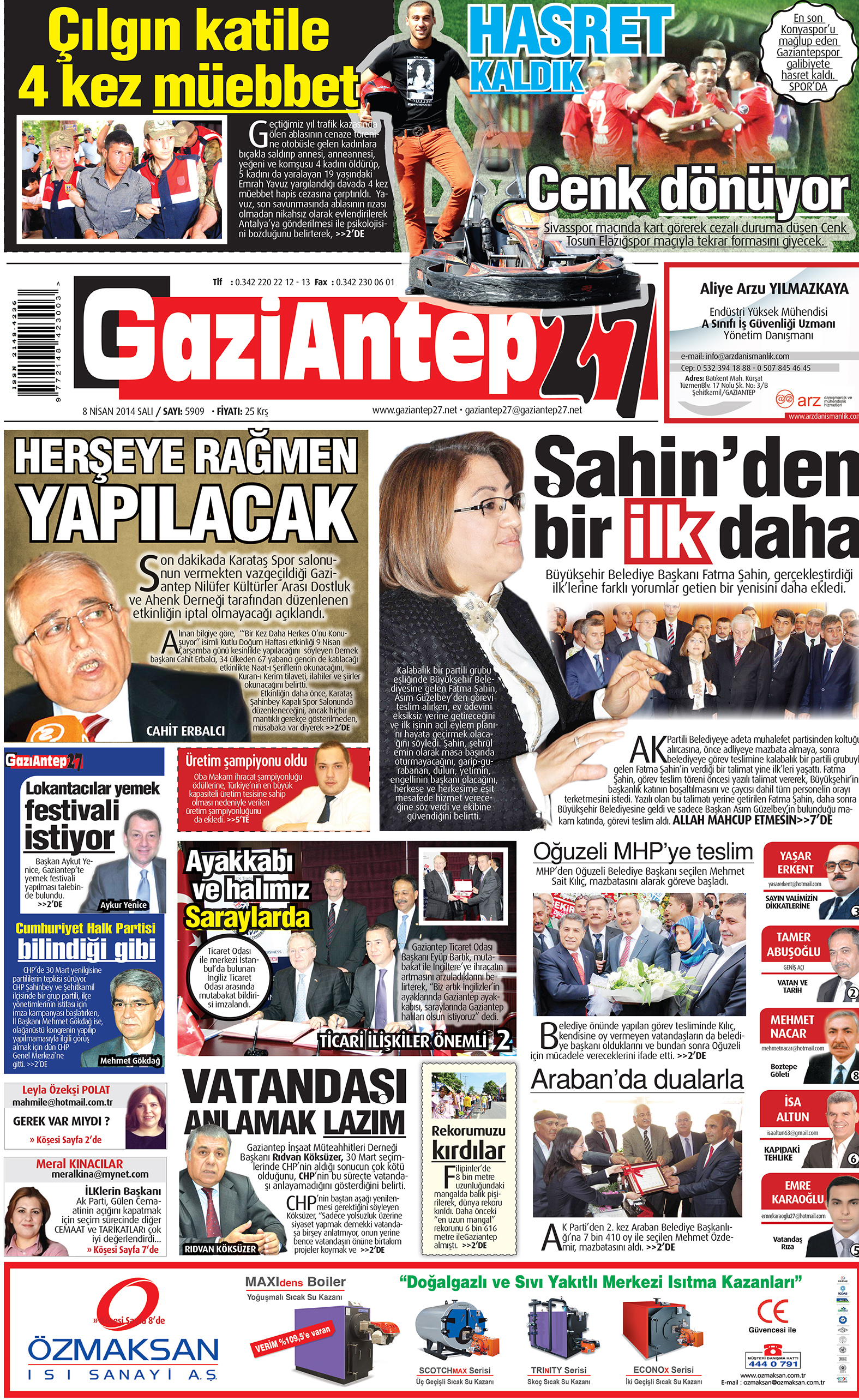 8 Nisan 2014 sayfalar 1