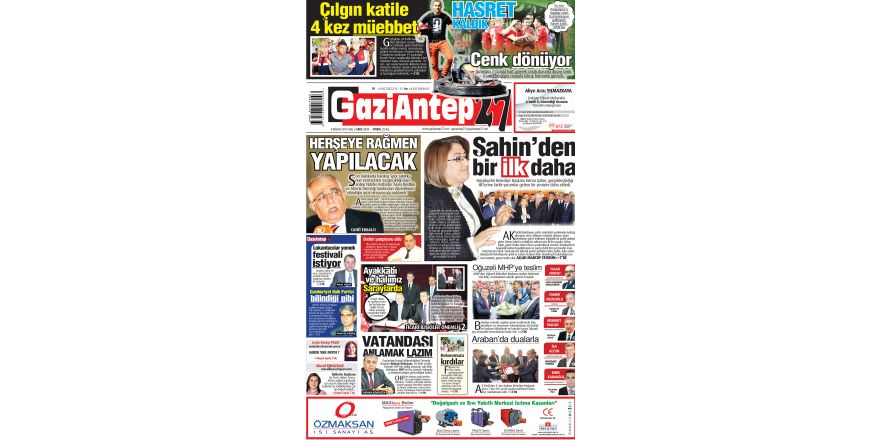 8 Nisan 2014 sayfalar
