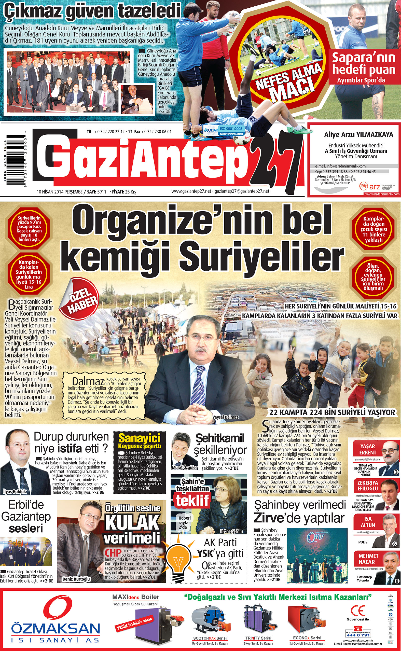10 Nisan 2014 sayfalar 1