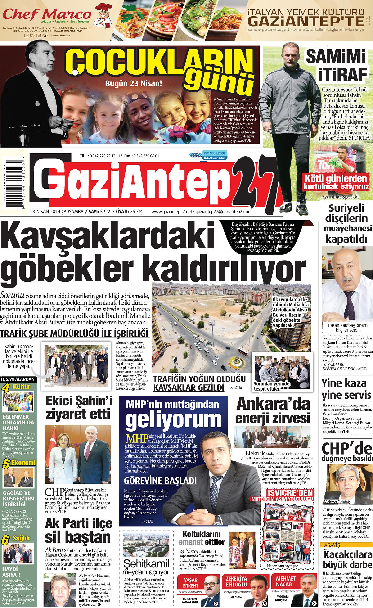 23 Nisan 2014 sayfalar 1