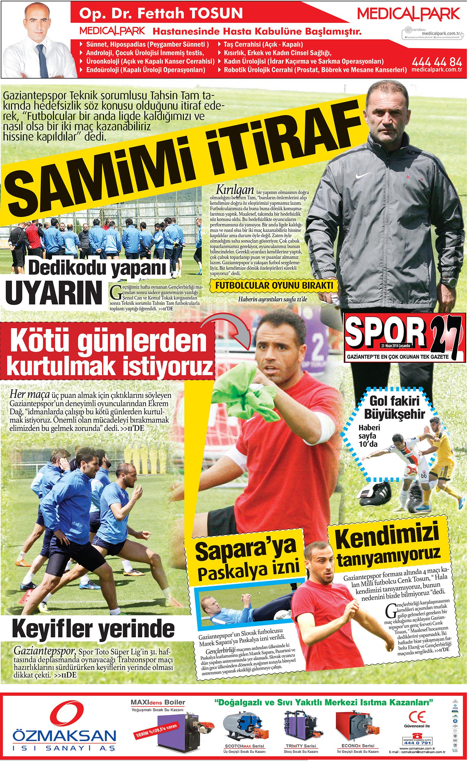23 Nisan 2014 sayfalar 2