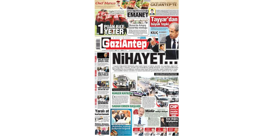 26 Nisan 2014 sayfalar