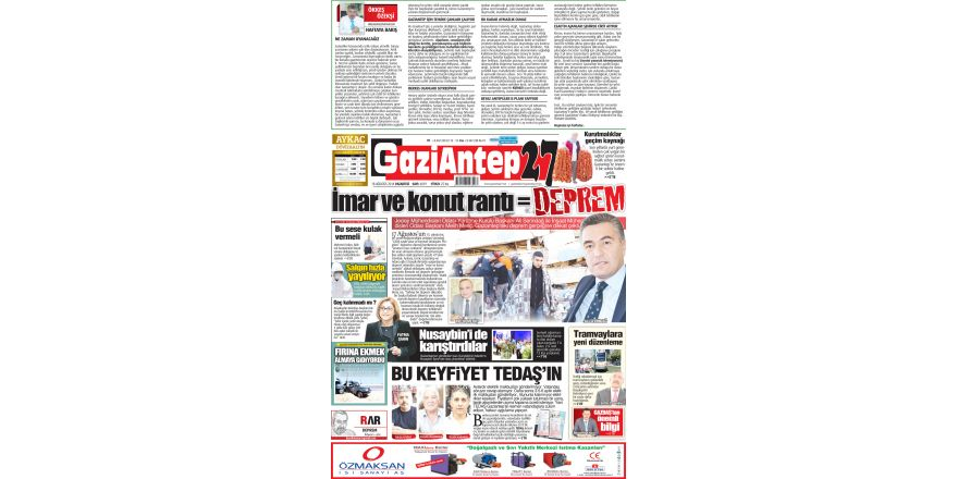 18 AĞUSTOS 2014 PAZARTESİ SAYFALARI