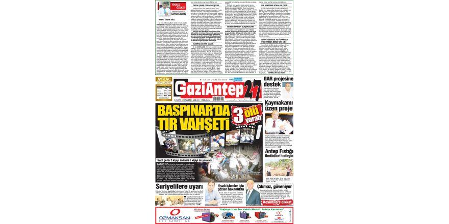 25 AĞUSTOS 2014 PAZARTESİ SAYFALARI