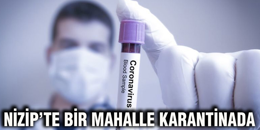 NİZİP'TE BİR MAHALLE KARANTİNADA