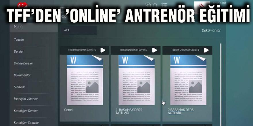TFF'den 'online' antrenör eğitimi