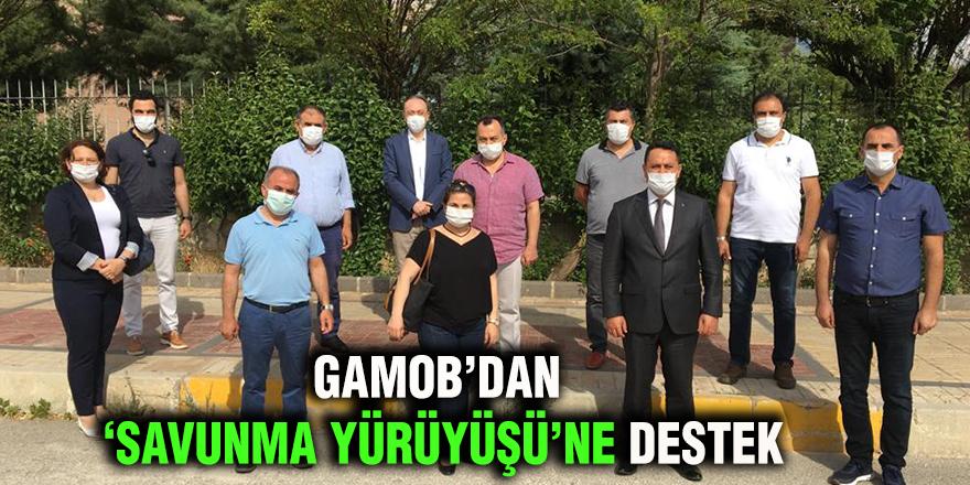 """GAMOB'dan """"Savunma Yürüyüşü""""ne destek"""
