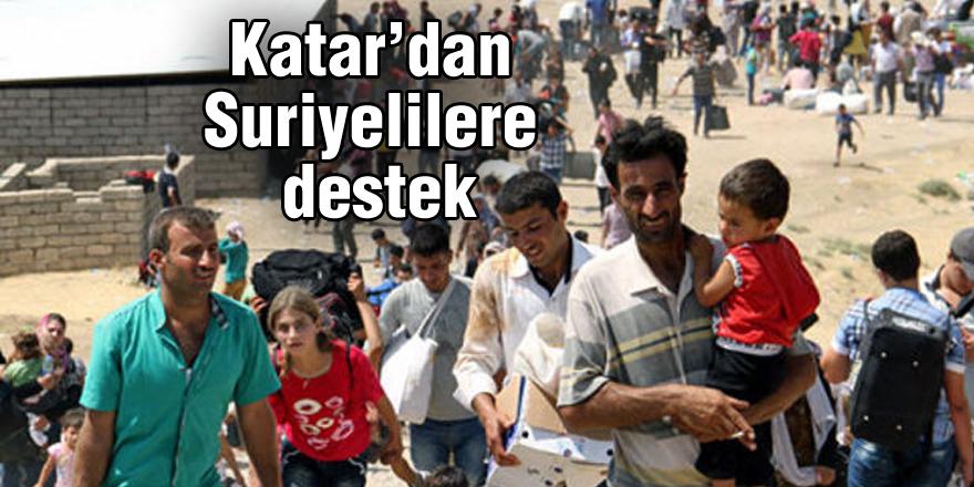 Katar'dan Suriyelilere destek