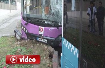 Beşiktaşta iki otobüs çarpıştı: 5 yaralı