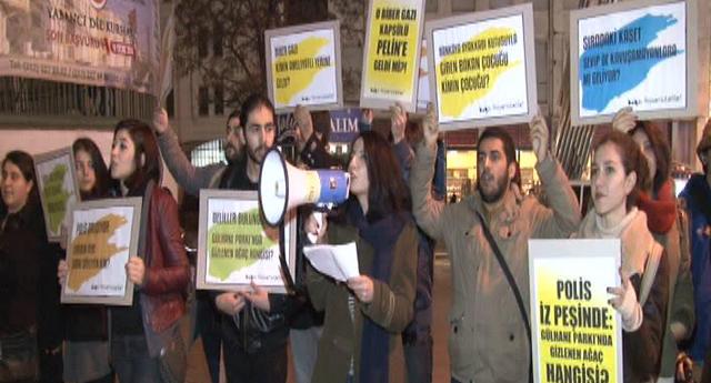 Fişlenmeye protesto eylemi