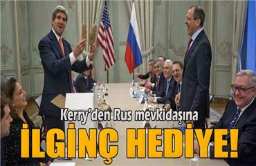 John Kerryden Rus mevkidaşı Sergey Lavrova ilginç hediye