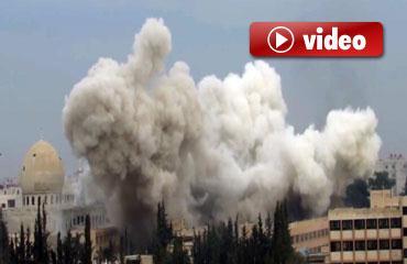 Suriyede bombardıman sürüyor