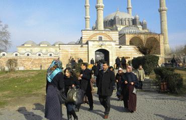 Selimiye Camiine ziyaretçi akını