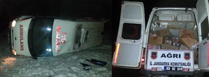 Kaçan ambulans devrilince gerçek ortaya çıktı!