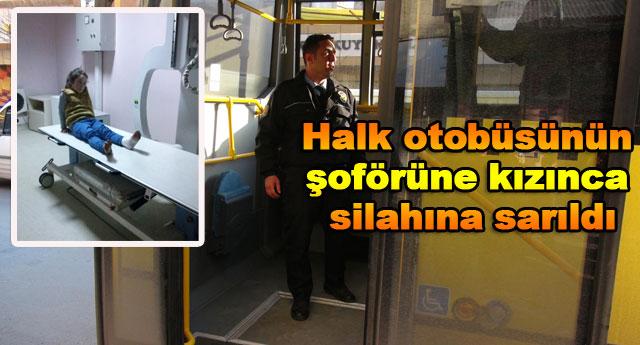 Olan otobüsteki yolcuya oldu