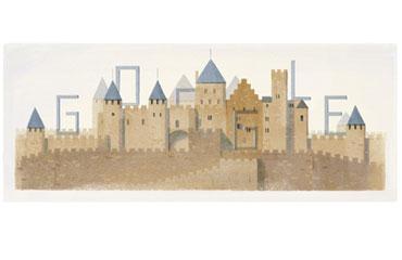 Googledan Eugene Emmanuel Viollet-le-Duc doodleı