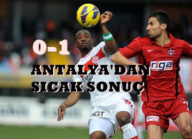Antalya\'ya tek kurşun 0-1