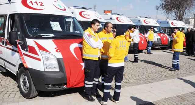13 ambulans artık 112\'nin