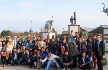 Uluslararası öğrenciler Samsuna hayran kaldı