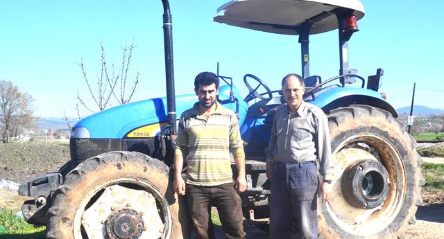Çalınan traktör sınırda bulundu