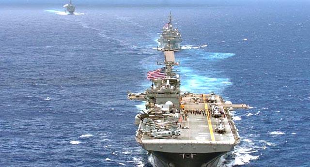 ABD filosu yola çıktı