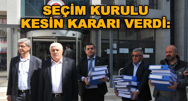 CHP'nin itirazı  reddedildi