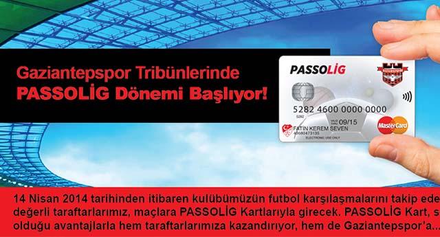 Gaziantepspor'da Passolig dönemi başlıyor