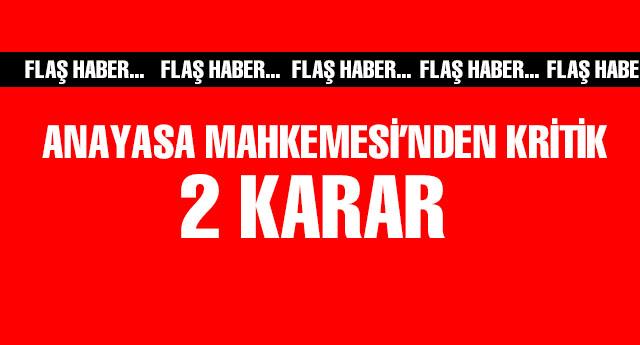 Anayasa Mahkemesi'nden HSYK kararı