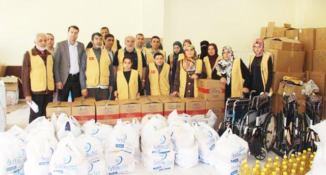 Suriyeli aileye yardım