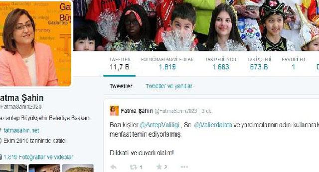 FATMA ŞAHİN, TWITTER'DAN UYARDI