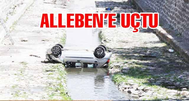 Ehliyetsiz sürücü Alleben'e düştü