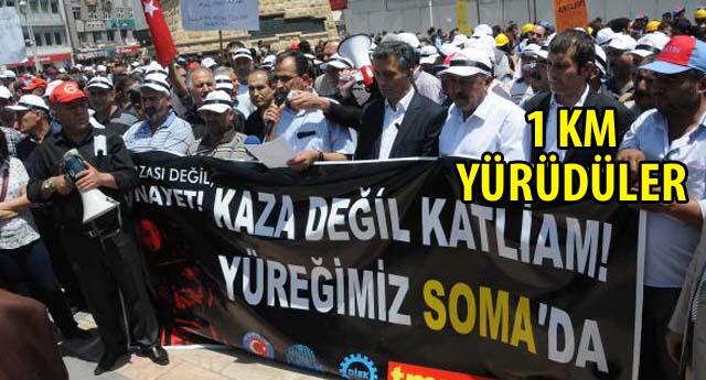 GAZİANTEP'TE SOMA PROTESTOSU
