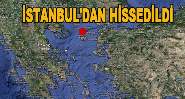 Ege Denizi'nde deprem meydan geldi