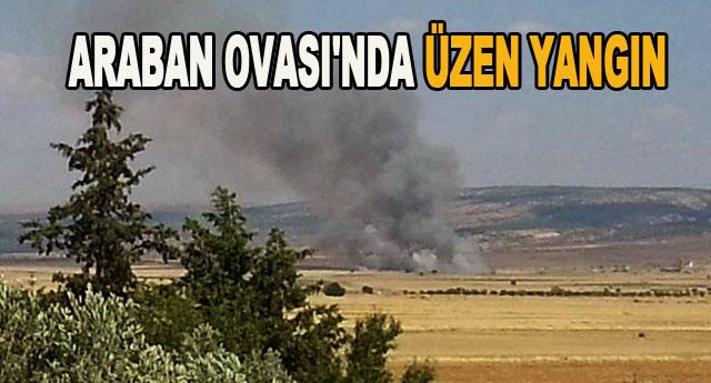 80 dönüm alan yandı