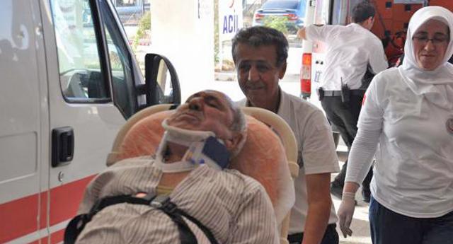 Karşıya Geçmek İsterken Yaralandı