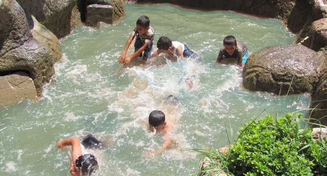Süs havuzlarına akın