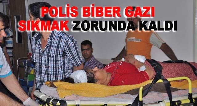 Anne kız yaralandı yakınları isyan çıkardı