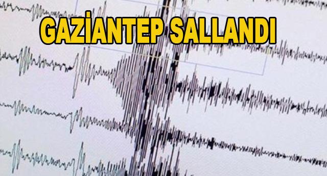 Gaziantep'te 3,9 Şiddetinde Deprem