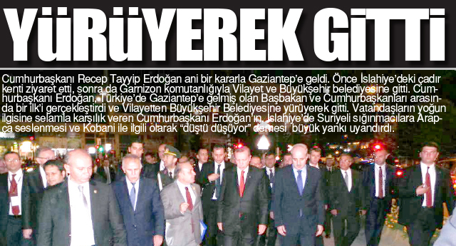 Cumhurbaşkanı Gaziantep'te bir ilk'i gerçekleştirdi
