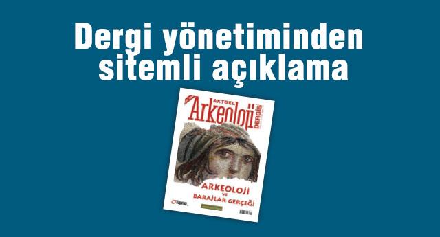 Aktüel Arkeoloji Dergisi de tasvip etmedi