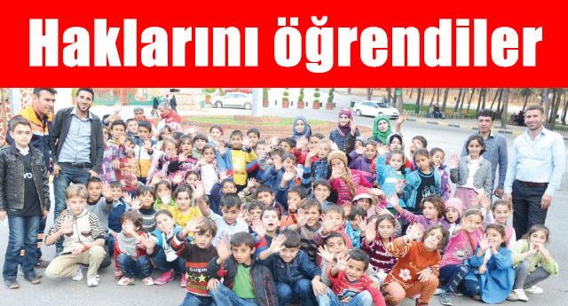 80 Suriyeli çocuğa eğitim verildi