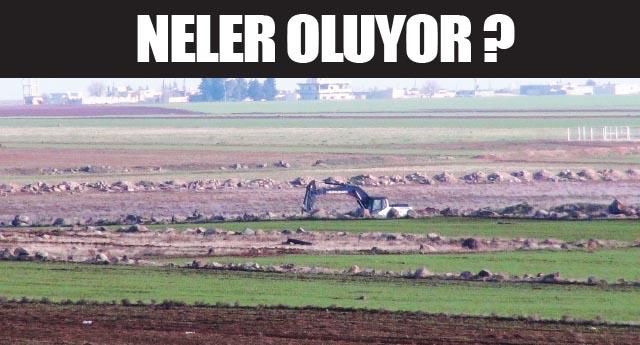Yanıbaşımızda IŞİD mevzi, Türk askeri hendek kazıyor!